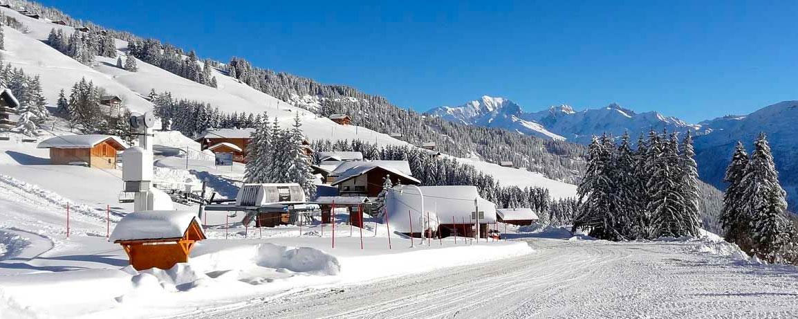Bisanne 1500 - Vue de la route - Crédits photos http://www.bisanne1500.fr/Appartement en Location à Bisanne 1500 - Villard sur Doron - Savoie - Alpes